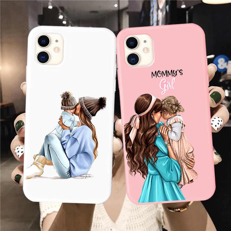 Custodia per telefono Candy per iphone 12 SE 2020 Super Dad Mom Baby Girl Fashion Family Coque per Iphone 11 Pro Max X XS Max XR 6 7 8 Plus