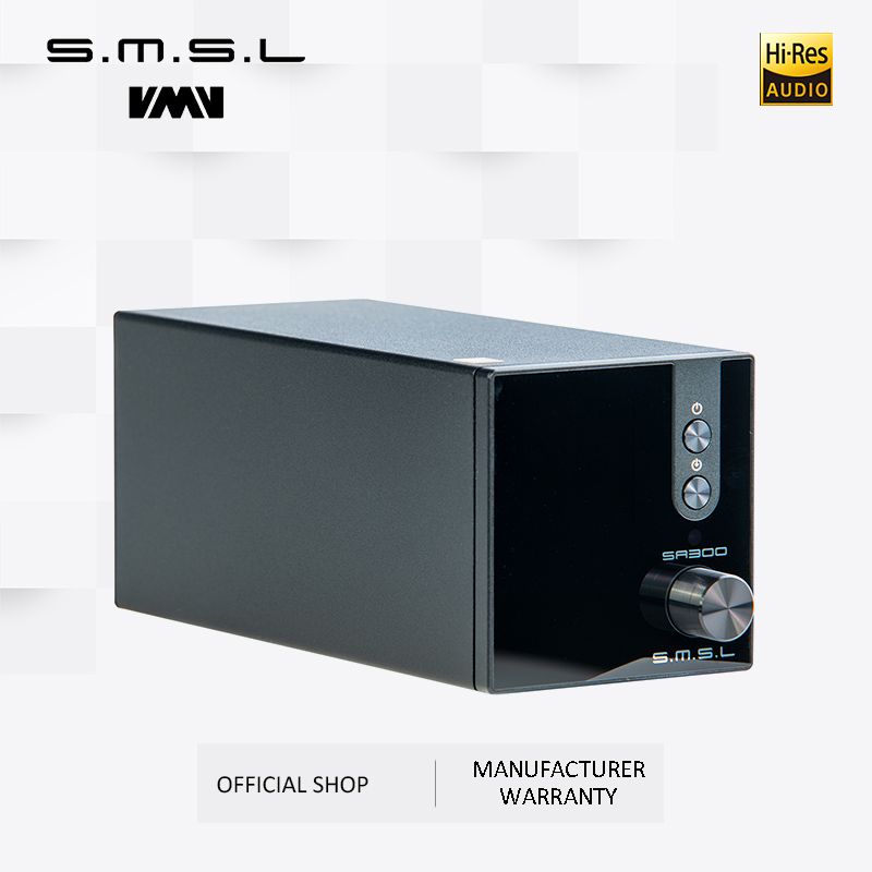 SMSL SA300 High Power Bluetooth 5.0 HiFi Remote Digital Amplifier