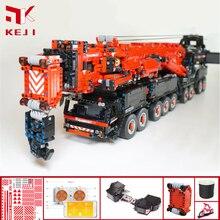 NEW Atualizado Poder Móvel Guindaste de Construção MOC-20920 LTM11200 RC Técnica Do Motor Kits de Blocos de Tijolos Brinquedos Menino Presentes