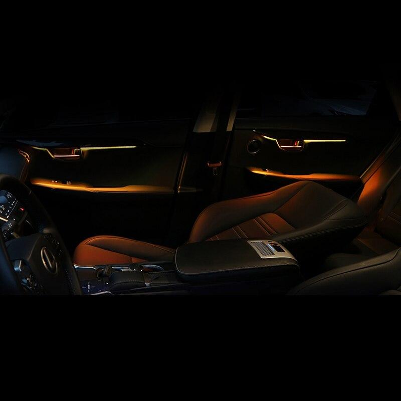 Lsrtw2017 pour Lexus NX NX200 200t NX300h voiture porte intérieure atmosphère panneau lumineux décoratif intérieur moulures accessoires