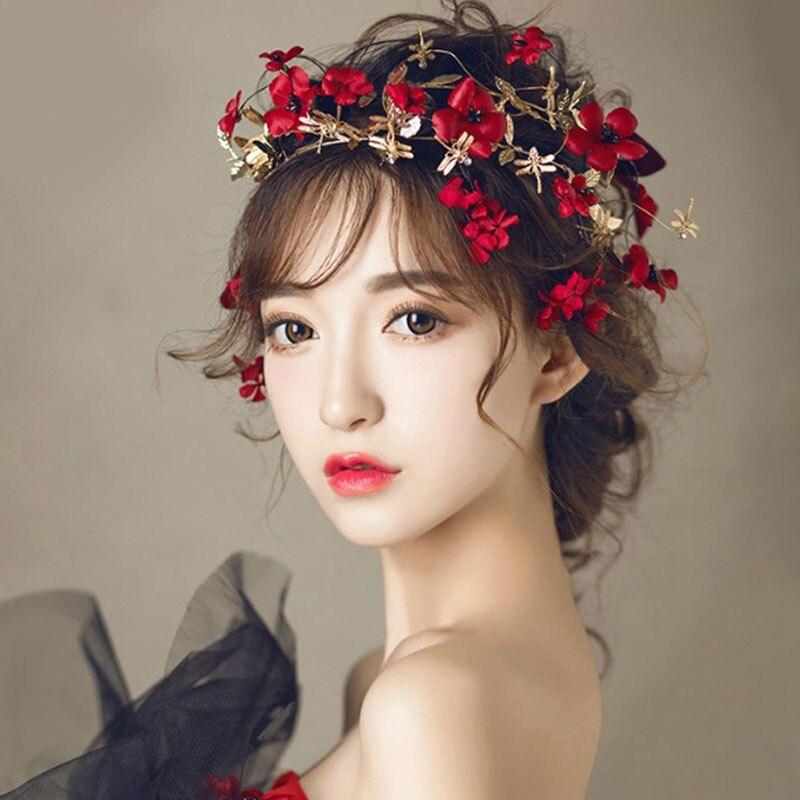 Fashion Women Flower Crown Headband Wedding Bridal Hairband Hair Accessories
