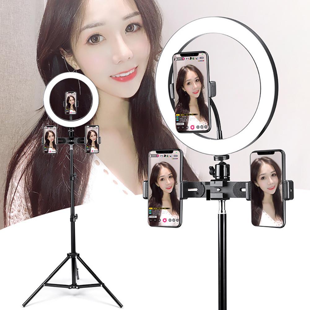New Universal Round LED Ring Fill Light Live Video Selfie Lamp Tripod Stand Bracket