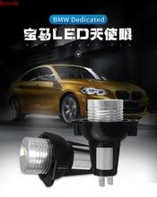 2Pcs For BMW E39 E53 E60 E61 E63 E64 E65 E66 E87 525i 530i xi 545i M5 Error Free LED Angel Eyes Marker Lights Bulbs high power error free 2 pcs angel eyes led e39 90w marker with canbus for bmw e39 lamp