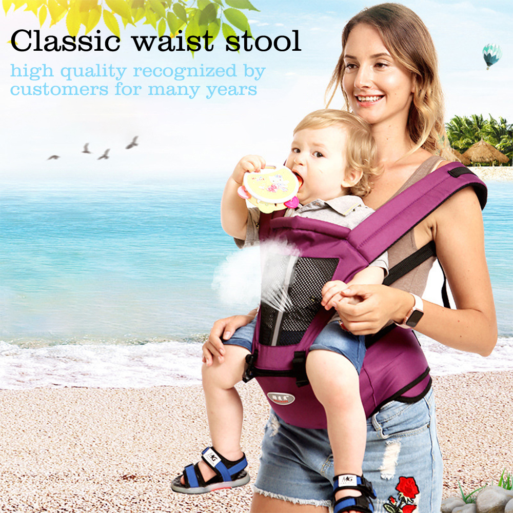 Baby Waist Stool With Hip Seat Baby Ergonomic Carrier Wrap Adjustable Front and Black Carrier for Newborn Child Sling Wrap