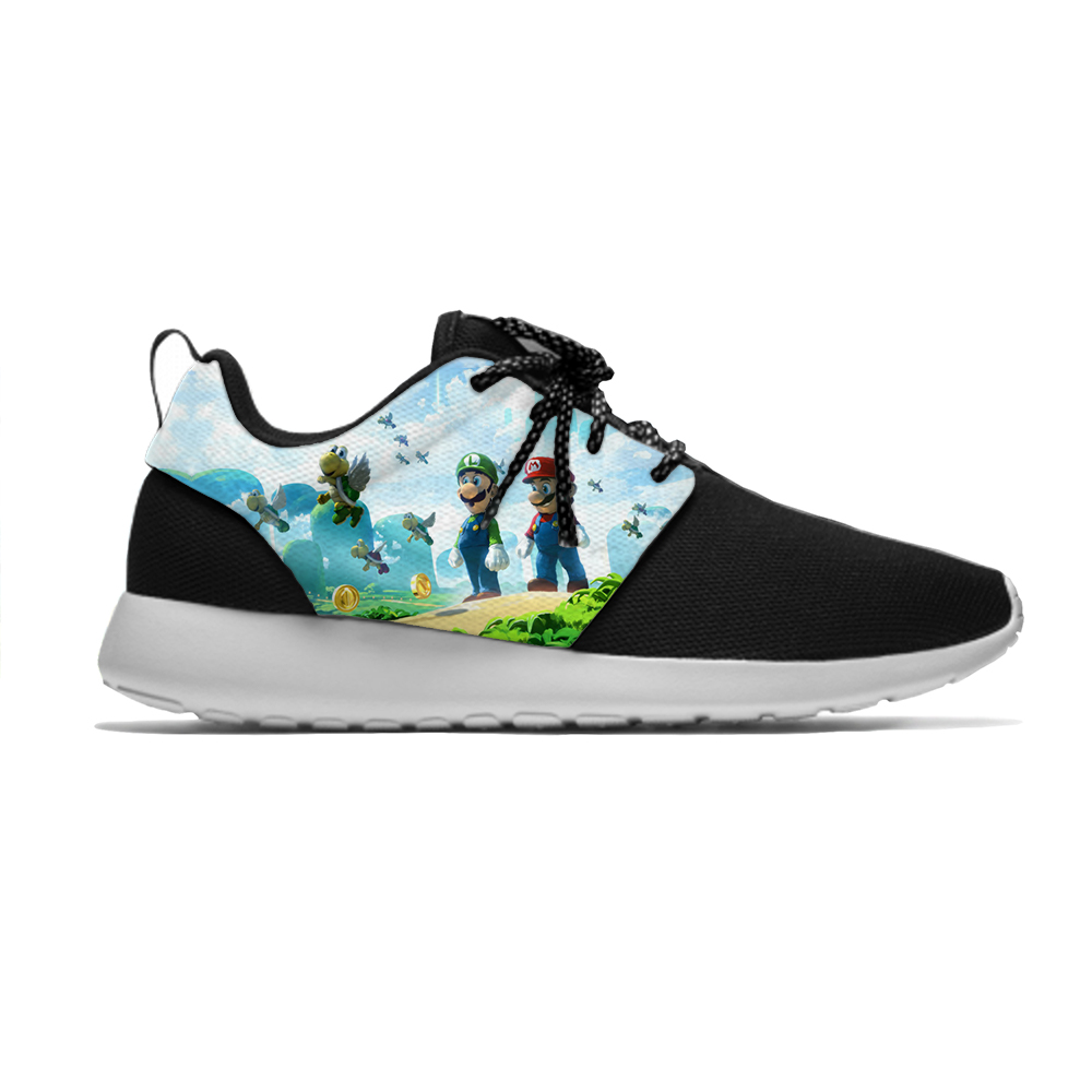 Luigi Mario Game Super Newest Cool Funny Classic Fashion Kids Sport Running Shoes Casual Breathable Sneakers Boys Children Girls