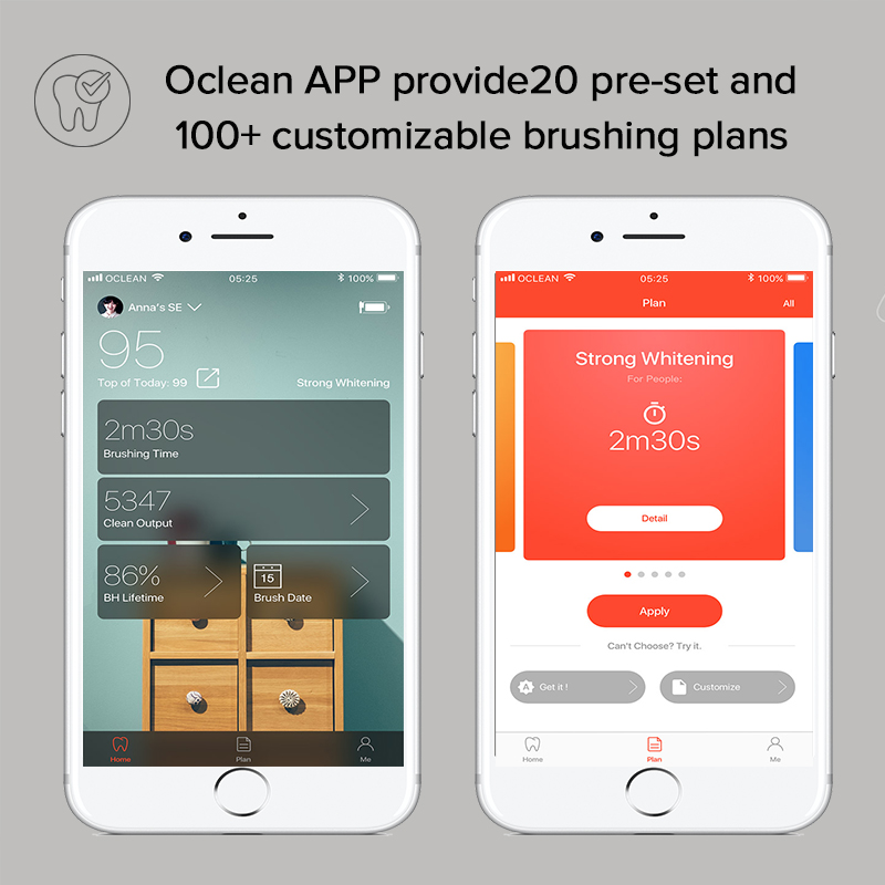 2020 New Oclean X Pro Sonic Toothbrush with Touch Screen IPX7 Waterproof 3 Brushing Modes Tooth Brush For Adult Fast Charging