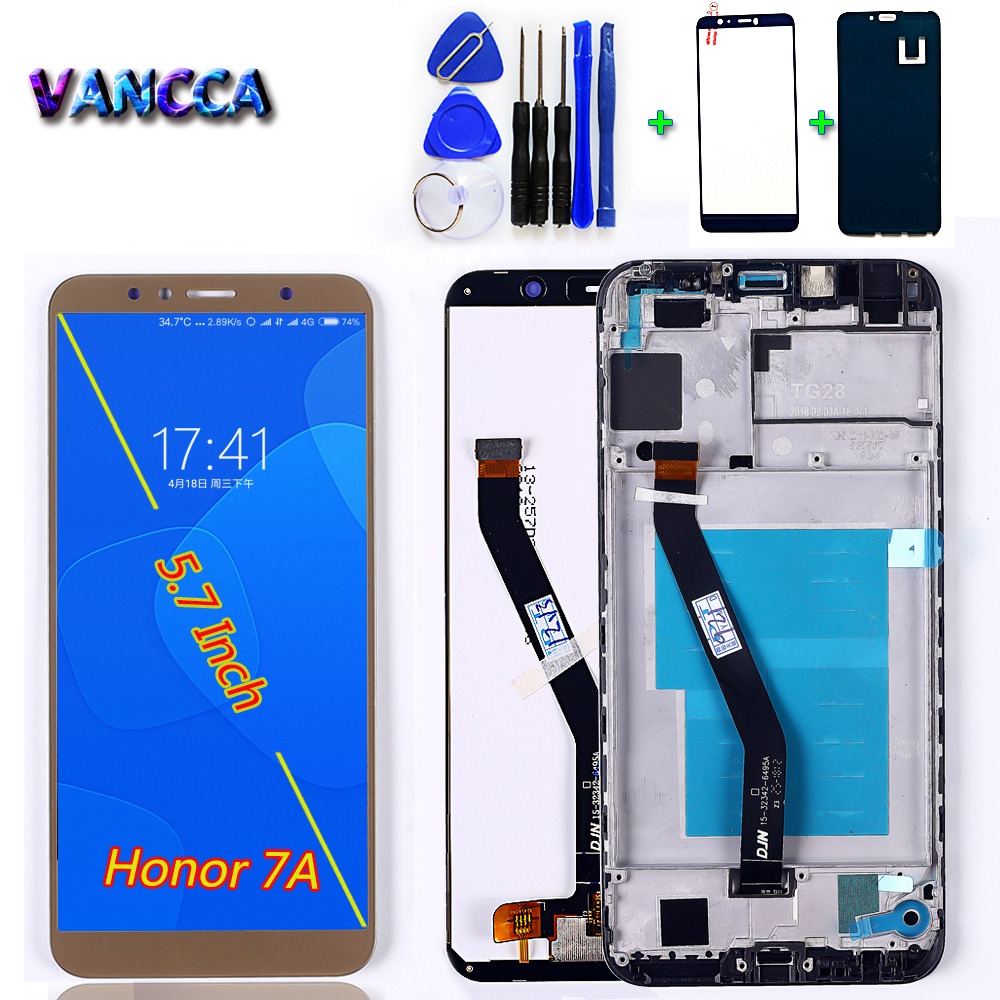 Lcd-Display Touch-Screen Huawei Honor Assembly-Frame Digitizer for 7A PRO Aum-L29/5.7inch title=