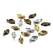 60 шт 15x7 мм сплав в форме листьев античное ожерелье с подвесками