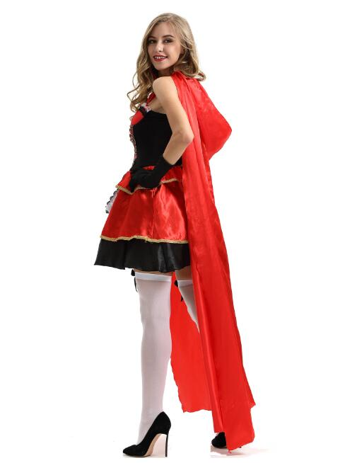 2020 new Little Red Riding Hood costume XL game uniform cosplay European and American ladies <font><b>Halloween</b></font> <font><b>sexy</b></font> cloak <font><b>queen</b></font> image