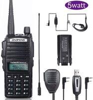 """מכשיר הקשר Baofeng UV-82 5 ווטס מכשיר הקשר Ham Dual-Band 136-174 / 400-520 MHz FM 2800mAh סוללה שני Waterproof רדיו דרך, מקמ""""ש (1)"""