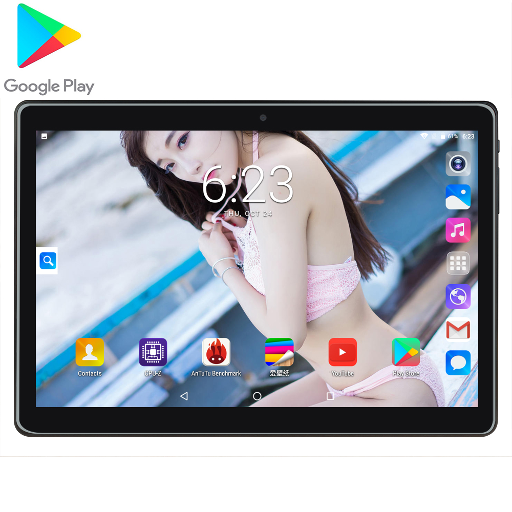 Tablet Game Phablet MTK6580 10 Inch Tablet PC 1280x800 Android 7.0 Quad Core Metal Tablets 32GB ROM 2GB RAM WiFi GPS CE