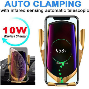 Image 2 - FLOVEME Qi Automatic Clamping 10W Wireless Charger Car Phone Holder Smart Infrared Sensor Air Vent Mount Mobile Phone Stand Hold