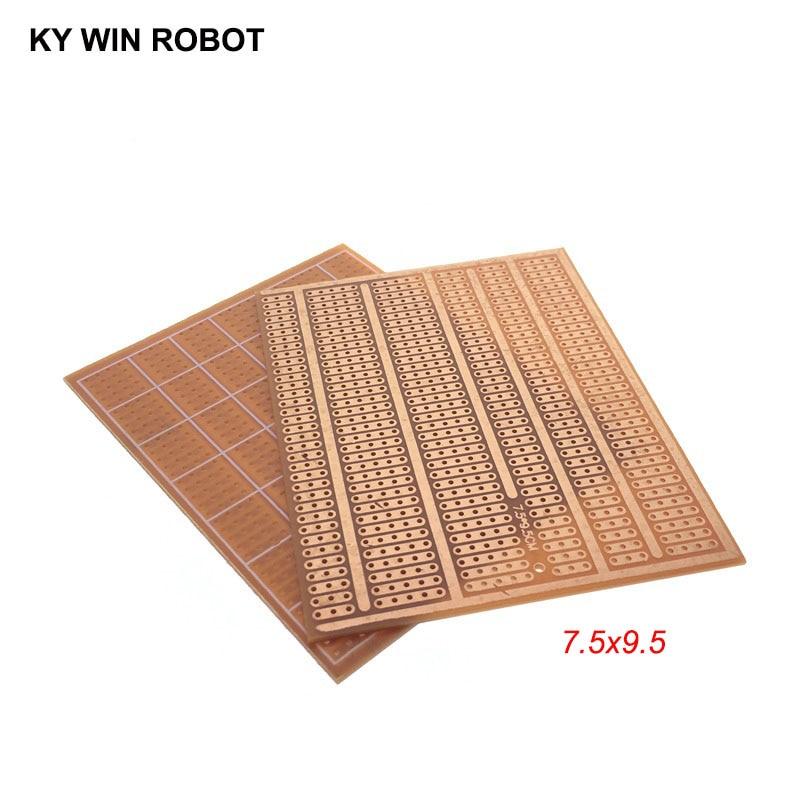 1pcs DIY 7.5*9.5CM Prototype Paper PCB Universal Experiment Matrix Circuit Board 7.5x9.5CM