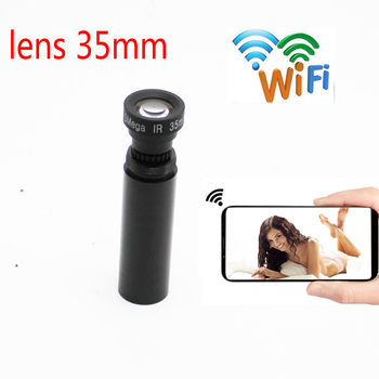 Mini wifi HD 1080p P2P onvif CCTV, cámara telescópica de vigilancia remota, lente grabadora de linterna, 35MM, almacenamiento de tarjeta TF
