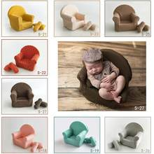 Newborn Baby Photography Props Posing Mini Sofa Arm Chair+2pcs Pillows Poser Photo Prop Fotografia Studio Accessories(China)