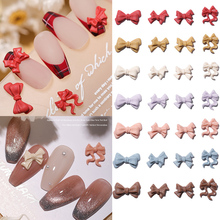 Bow-Ornament Nail-Accessories Manicure DIY Bowknot 3D Resin for 8pcs Silocone Valentine