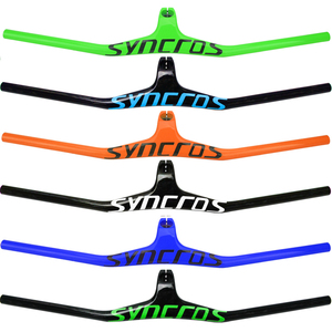 Image 2 - Syn Custom Champion MTB Bicycle Handlebar / Riser  17 degree One shaped Integrated Handlebar 3K Gloss or Matte Carbon Fiber Avi