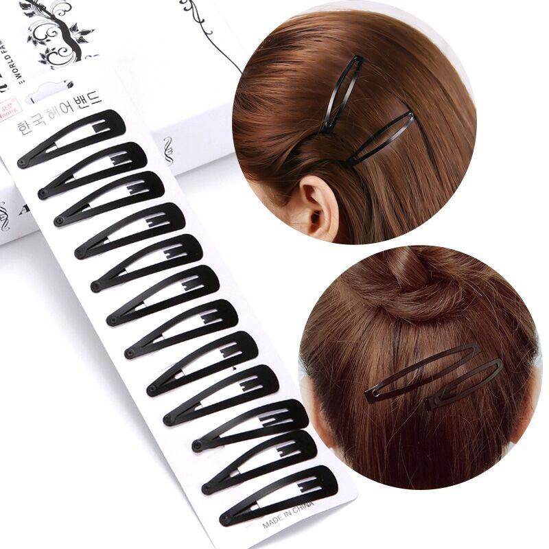10PCS Simple Black Hair Clips Women Girls Hairpins BB Clips Barrettes Headbands Hair Styling Tools Accessories Barette Cheveux