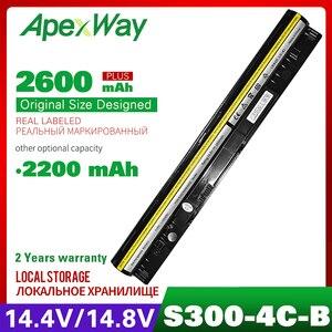 14.8V Bateria Do Laptop L12S4L01 L12S4Z01 Para Lenovo IdeaPad I1000 S300 S310 S400 S400U S405 S410 S415 Flex 14 15D M30 M40 Series|Baterias p/ laptop|Computador e Escritório -