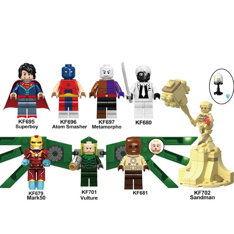 KF6072 Single Sale Building Blocks Super Heroes Superboy Metamorpho Sandman Mark 50 Vulture Action Figures Toys For Children DIY