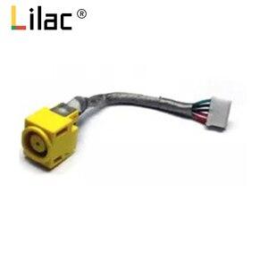 Tomada de alimentação dc com cabo para lenovo ibm thinkpad x220 x220i x230 x230i conector do portátil porto tomada fio substituição