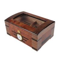 B 0064 8 Creative Cedar Wood Cigar Humidifier Double layer Large capacity Home Cigar Humidifier Gift Box