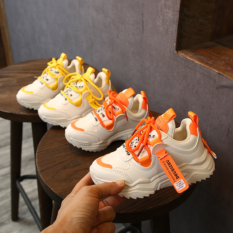 2019 Winter Children Shoes Elastic Lace Light Weight Kids Shoe Boys Girls Sport Running Sneakers Breathable Student Casual Shoes