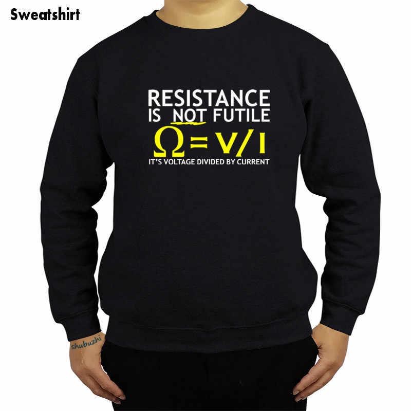 현재 남자 스웨터로 나누어 진 전압 재미 있은 유행 hoody 전기 기사 농담 과학 최신 유행 작풍 hoody sbz4306