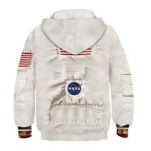 Image 2 - Sudaderas con capucha Amstrong para niños, trajes espaciadores, sudaderas de manga larga para Primavera, ropa Infantil para adolescentes, 2020