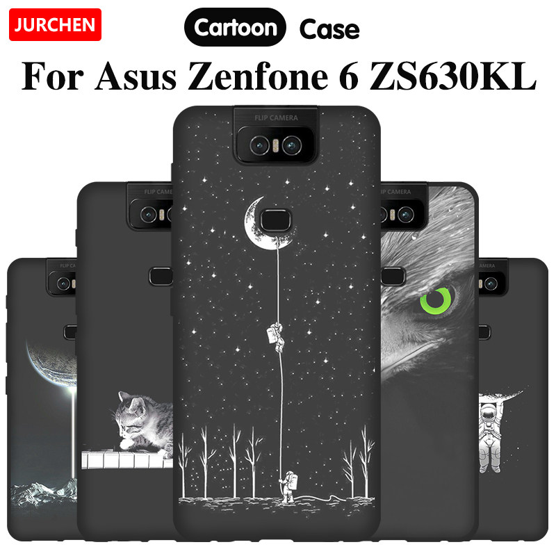 Holder with Neck Cord Lanyard Strap Matte black MXKOCO Compatible with ASUS Zenfone 6 ZS630KL Case TPU Necklace Phone Cover//Case Adjustable Length Lanyard Mobile Phone Chain