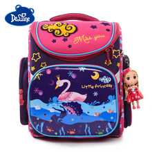 Girls Boys New Brand Primary School Backpacks Cartoon Mochila Infantil Large Capacity Grade 1-4 Kids Cute Orthopedic School Bags(China)