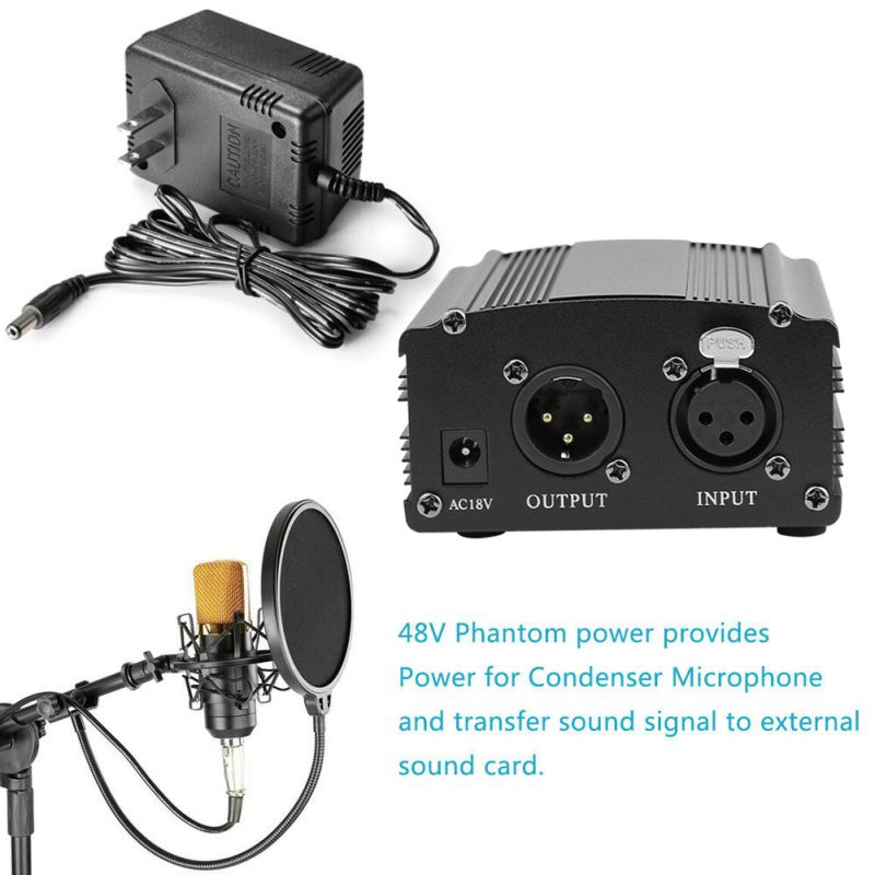 Using Phantom power supply with the bm800 condenser microphone