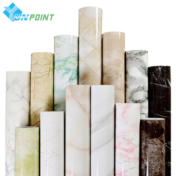 PVC Marble Pattern Wallpaper Self Adhesive Kitchen Table Window Sill Waterproof Stickers Old Furniture Diy Renovation Wall Paper