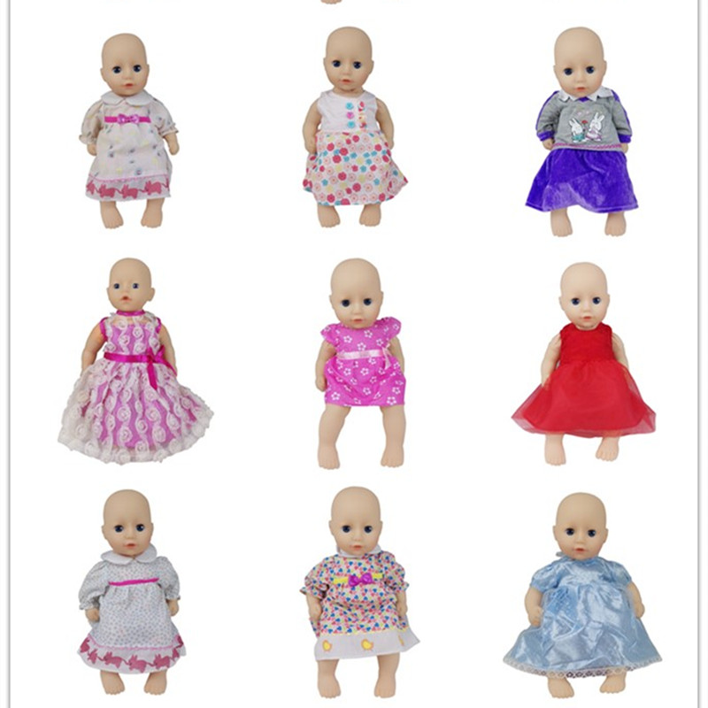 New Lovele Dress Doll Clothes Wear Fit For 36cm Baby Doll, Doll Accessories Children Best Birthday Gift