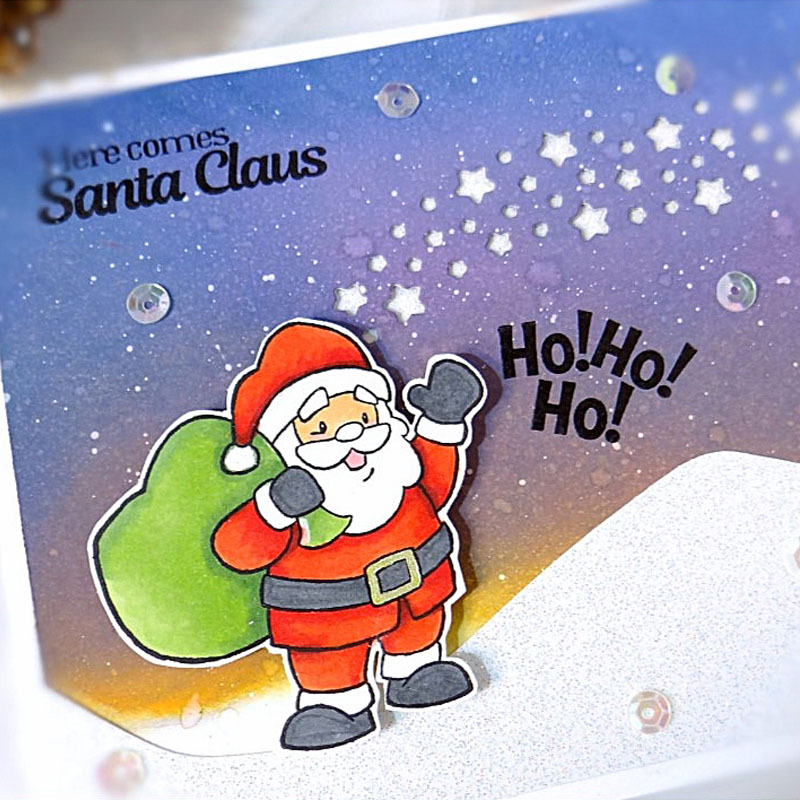 Cutting Dies Christmas Match Combine Clear Stamps Santa Tree House Flower Human
