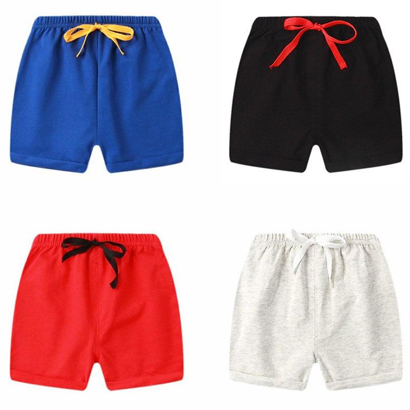 Пляжные короткие спортивные штаны летние детские Шорты хлопковые шорты для мальчиков и девочек, шорты ярких цветов детские трусики