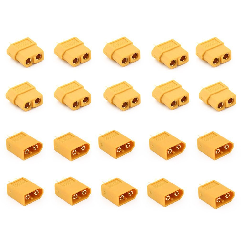 10 Pairs XT60 Male + Female Plugs Bullet Connectors For RC Lipo Battery And Motor Drone Accessories Plug And Play
