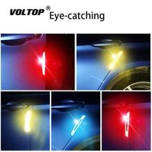 4pcs Anti collision Strip Car Accessories Carbon Fiber Warning Decoration Ornaments Universal Door Side Wheel Eyebrow Collision