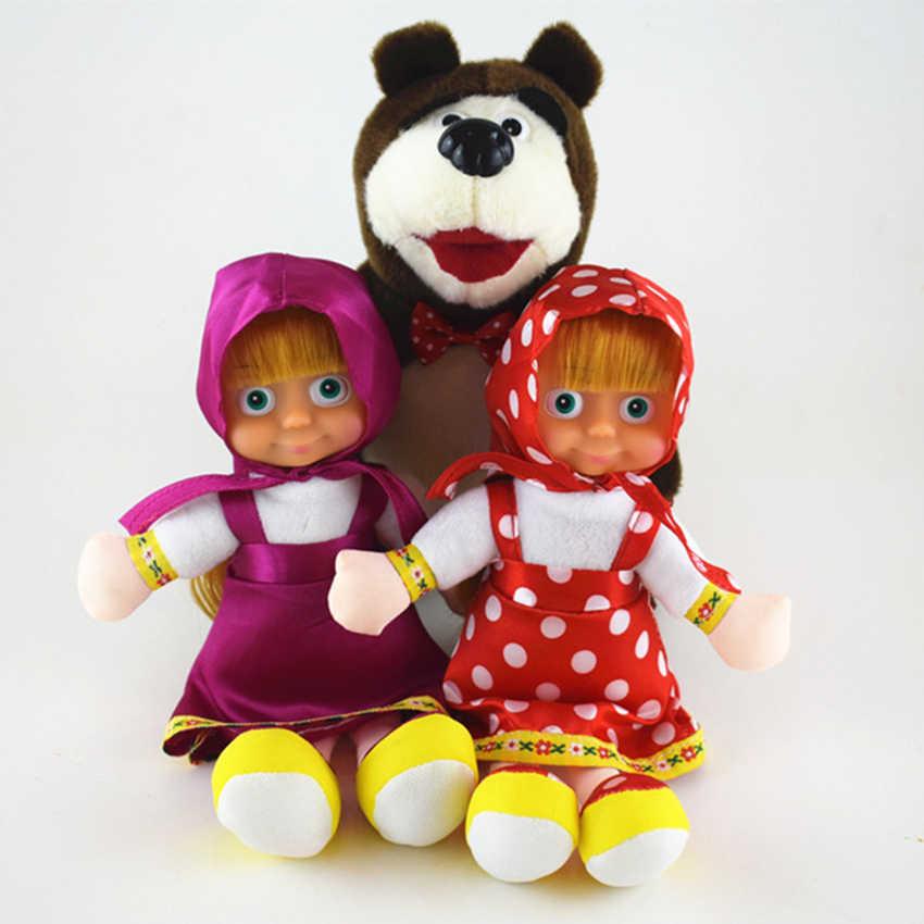 22-30 centimetri Masha E Orso Giocattoli di Peluche Russo Anime PP Cotone Peluche Bambola Di Compleanno Per Bambini di Natale giorno Regalo Dei Capretti