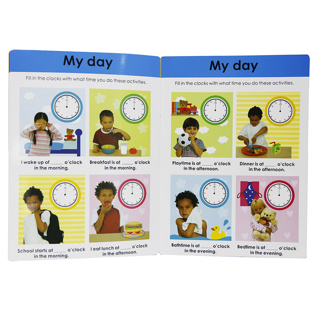 10 Books/Set Wipe Clean Workbook Children Kids English Picture Book Learn ABC Alphabet/Times/Maths/Tricky Phonics Words 2