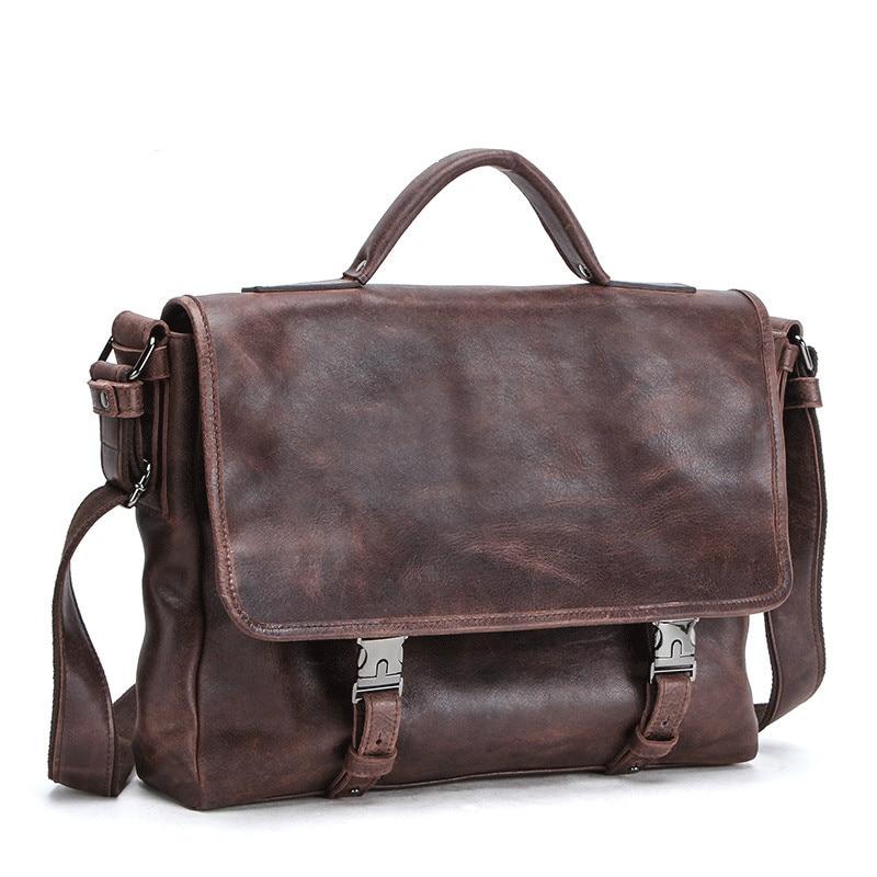 Genuine Leather Laptop Men Shoulder Messenger Computer Bag Multifunctional Portable Briefcase Crocodile New Design Free Shipping