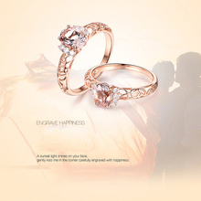 FIMAODZ Fashion Wedding Ring For Women Bridal Champagne Rose Gold Open Adjustable Zircon Crystal Rings  Gifts