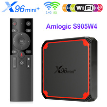 X96 Mini Plus TV Box أندرويد 9.0 Amlogic S905W4 رباعية النواة A53 ثنائي واي فاي 4K دعم جوجل صوت يوتيوب X96Mini ميديا بلاير