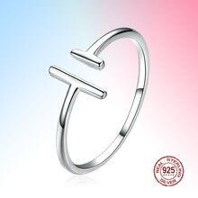 Регулируемые кольца минималистский открытый 925 стерлингового