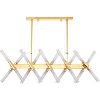 Post Modern Nordic Herringbone Contemporary LED Pendant Light Living Room Dining Room LED G9 Bulb Hanging Lamps Gold/Black