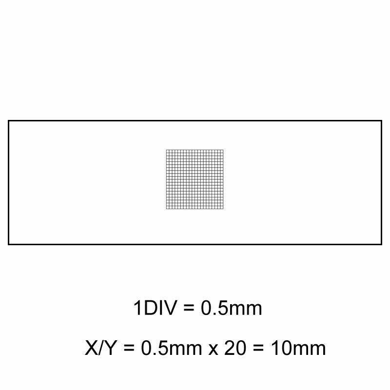 DIV 0.5mm Microscope micromètre étalonnage diapositives étape optique verre Microscopio accessoire