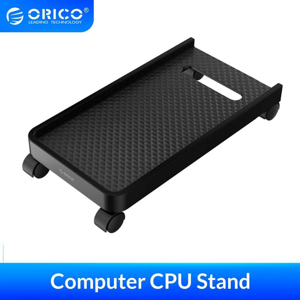 Orico móvel ajustável computador torres host suporte do computador cpu suporte com rodas estável para casos computador pc à prova dwaterproof água