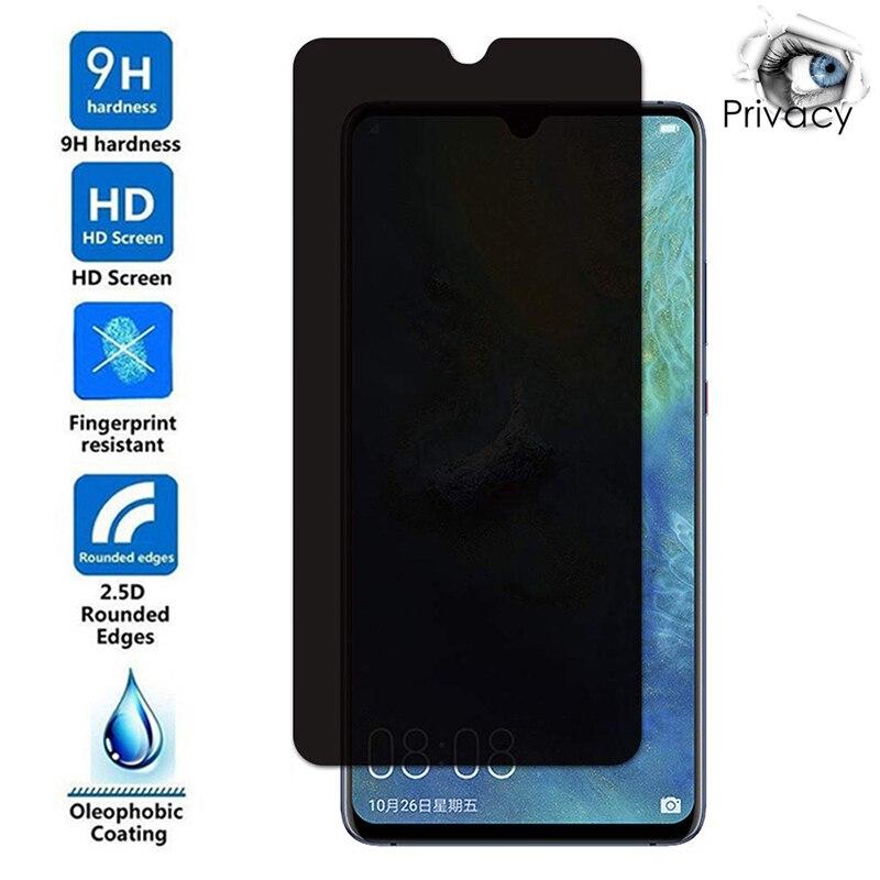 Анти-шпион защитная пленка из закаленного стекла для Huawei P20 P40 Lite E 5G P30 Pro приватные экранные протекторы для Huawei P10 плюс пленки стекло