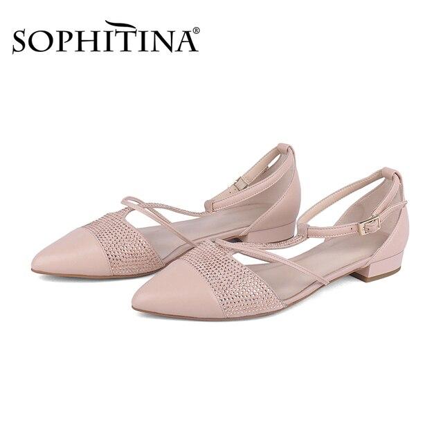 Купить sophitina/женская обувь на плоской подошве с т образным ремешком картинки цена