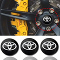 4 шт. 56 мм 3D эмблема автомобиля колесо центр Кепки значок колесная наклейка Стикеры для Тойоты Corolla Yaris Rav4 Avensis Auris Camry